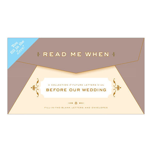 Read Me When Box: Letters to You Before Our Wedding