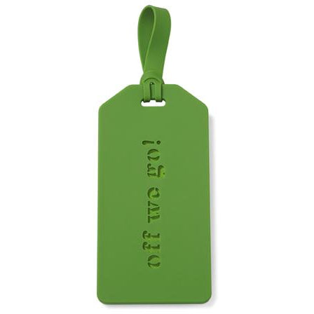 Off We Go! Luggage Tag (Green)