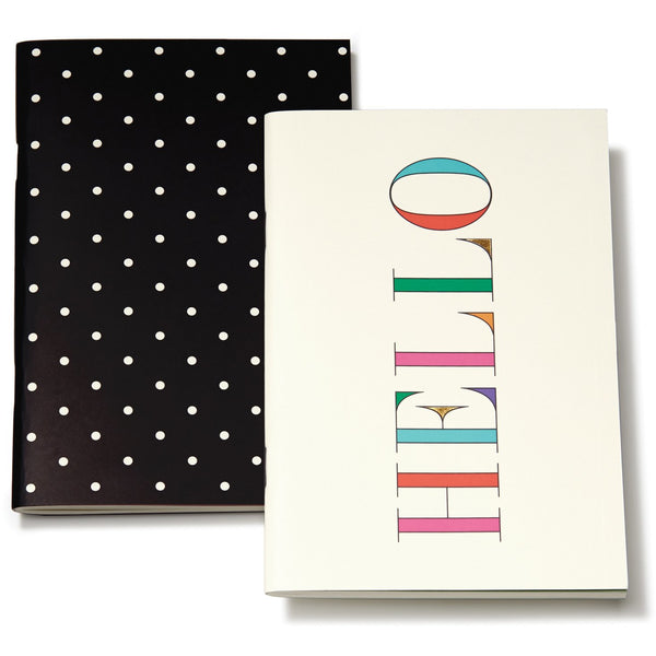 kate spade new york Notebook Set, Hello/Deco Dots