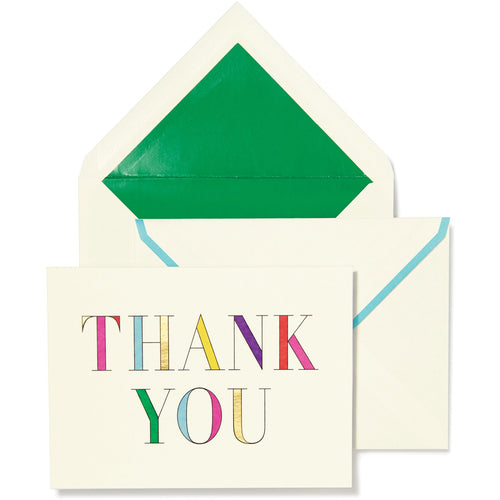 Kate Spade Note Card, Thank You (Multi)