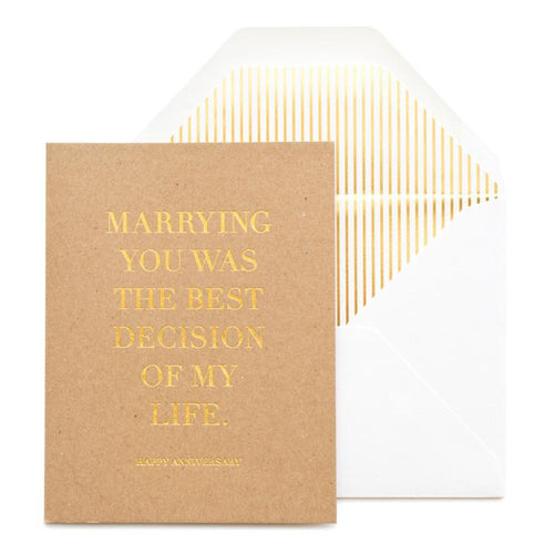 Anniversary Card - Best Decision