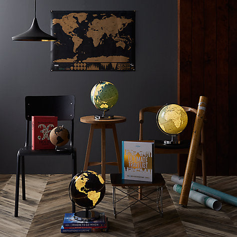"Globe Light 10"" French Blue"