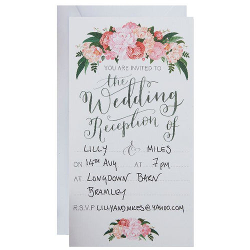 Floral Evening Invitations