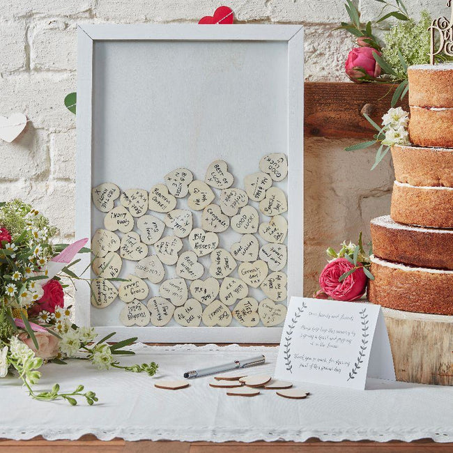 Wooden Frame Alternative Guest Book
