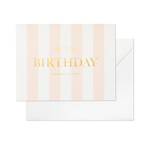 Card - Happiest Birthday Stripes