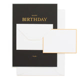 Card - Tiny Birthday Message Black