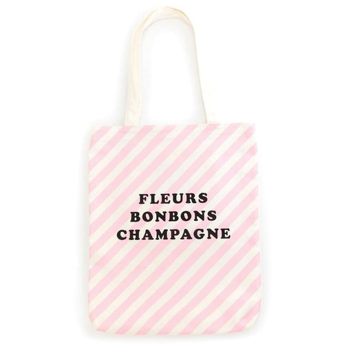 Canvas Tote Bag - Ticket Stripes