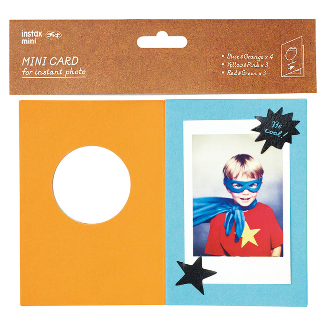 Mini Cards for Instant Photo - Blue (set of 10)