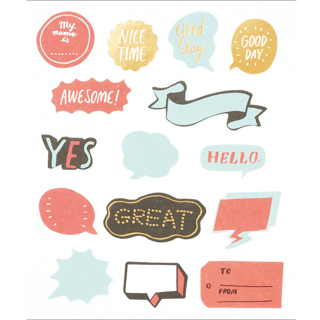 Flake Word Sticker - Red (30 pcs)