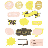 Flake Word Sticker - Yellow (30 pcs)