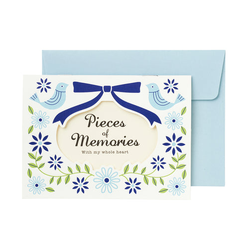 Floral Photo Mail - Blue