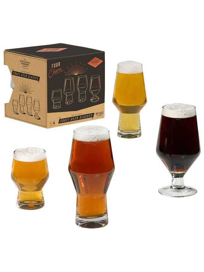 Gentlemen's Hardware- Craft Beer Glasses (Set of 4)
