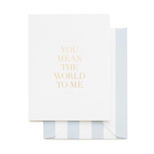 Card - You Mean The World To Me