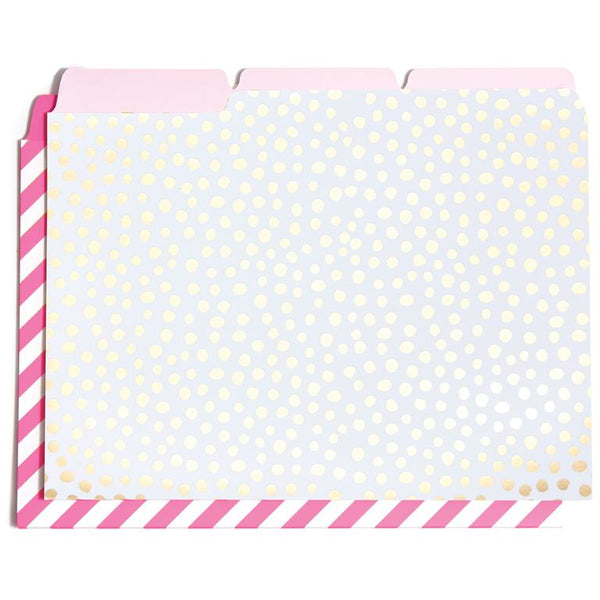 Get It Sorted File Folder Set, Petite Party Dots/Ticket Stripe