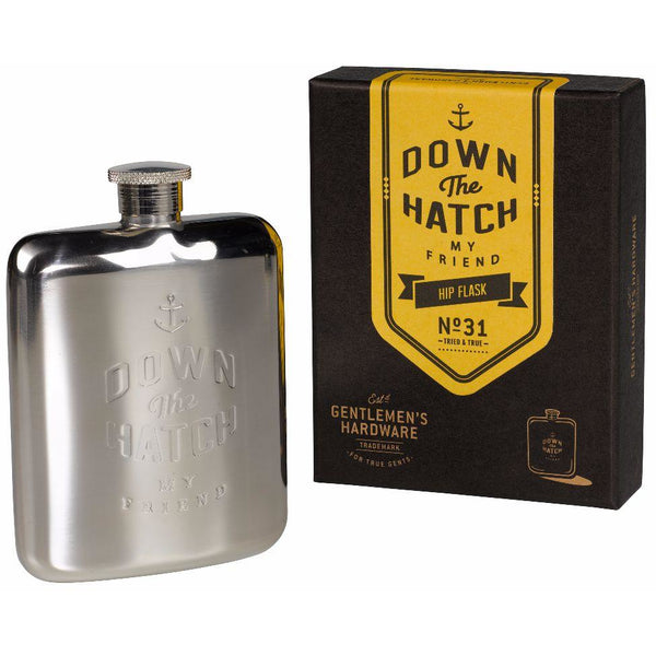 Hip Flask - Down the Hatch