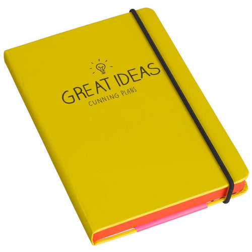 A6 Great Ideas Notebook Yellow