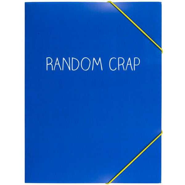 Document Wallet Random Crap Blue