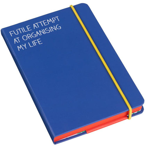 A6 Futile Attempt Notebook Blue