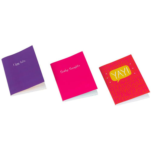 Mini Notebook Set of 3 Happy Days/ Thinky Thoughts