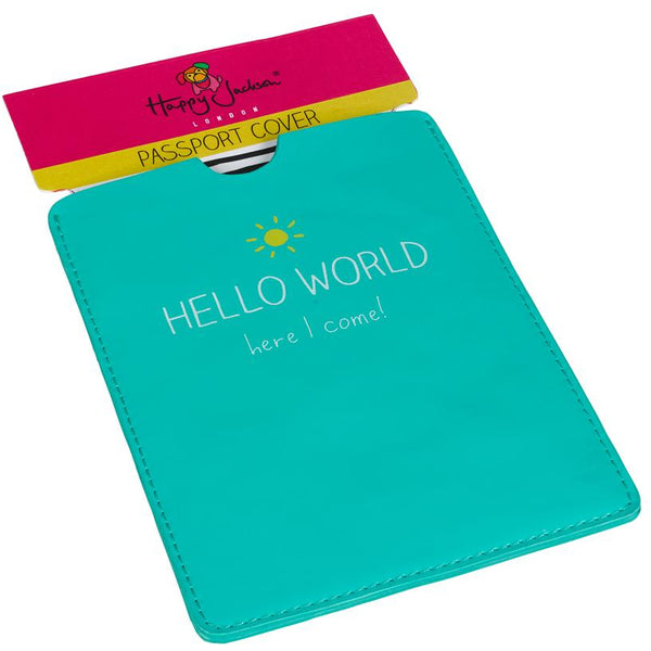 Passport Cover - Hello World