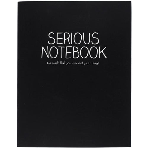 Large Jotter Serious Black