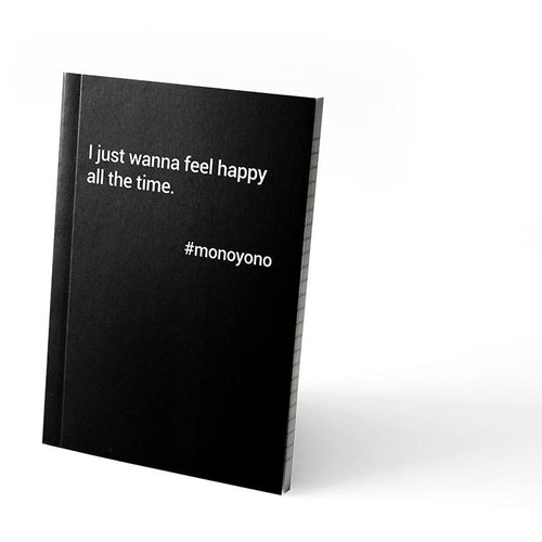 Monoyono Little Black Notebook - Feel Happy All The Time