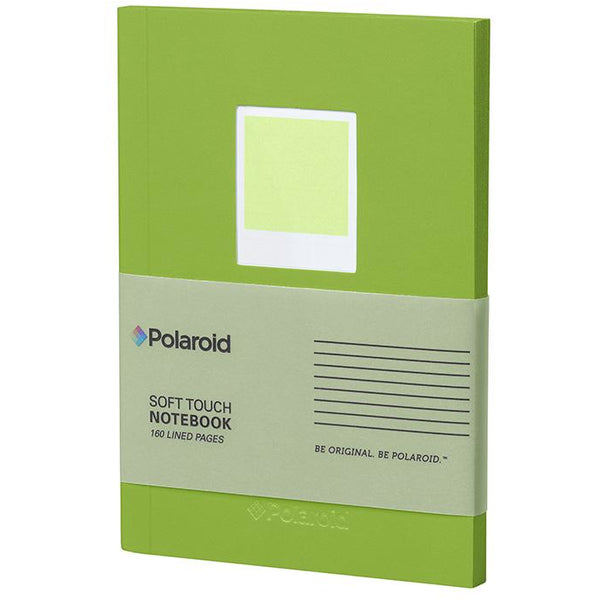 Polaroid Soft Touch Small Notebook Green