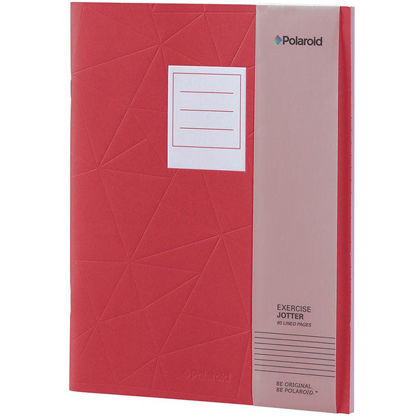 Polaroid Lined Jotter Notebook Large - Red