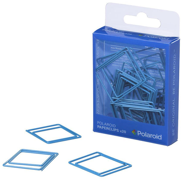 Polaroid shaped paperclips - Blue