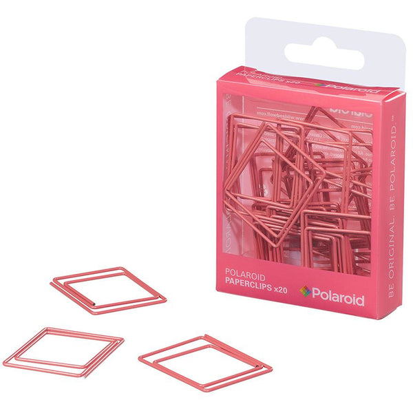 Polaroid shaped paperclips - Pink