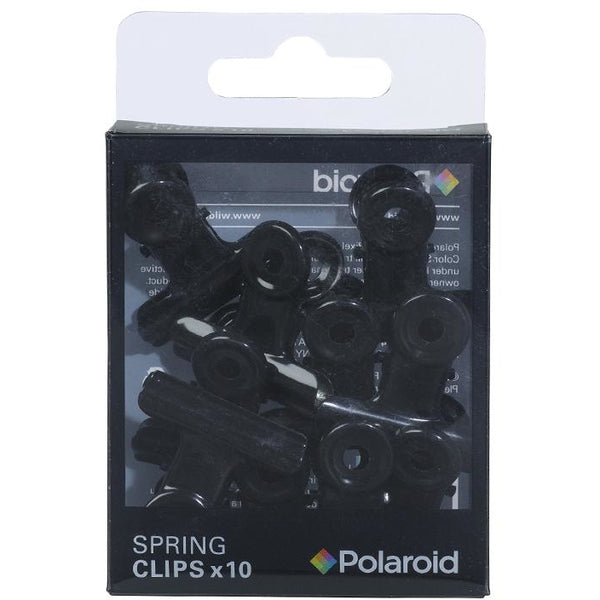 Polaroid Spring Clips  Black