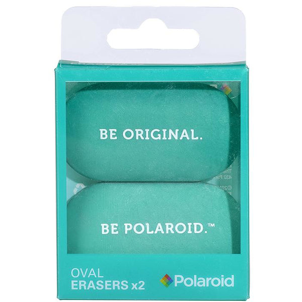 Polaroid Oval Erasers Set of 2 - Turquoise
