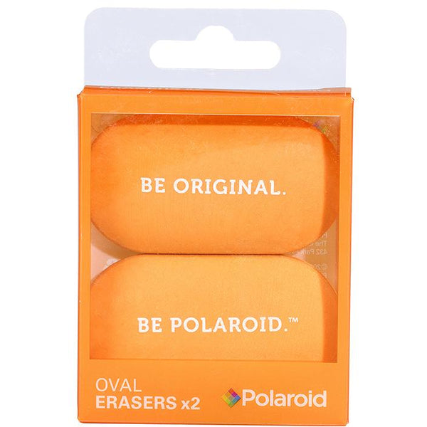 Polaroid Oval Erasers Set of 2 - Orange