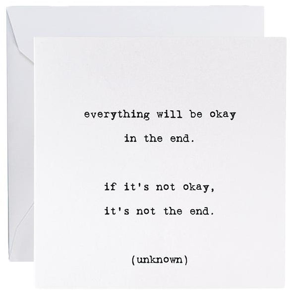 Card - Everything Will Be Okay