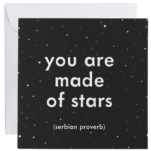 Card - You Are Made Of Stars