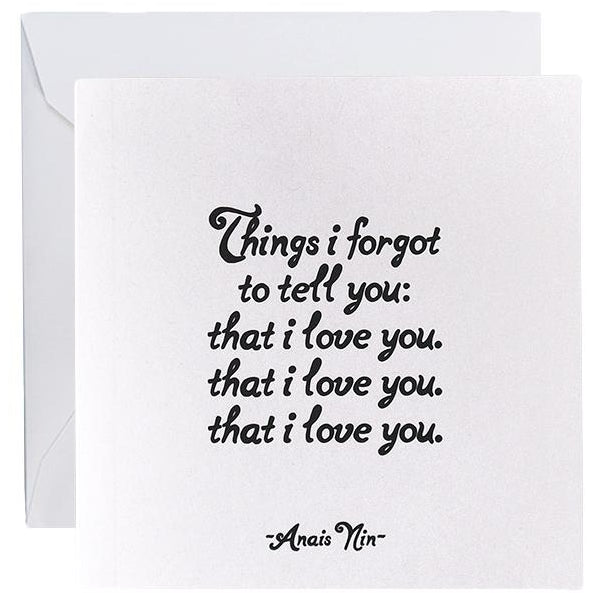 Card - Things I Forgot