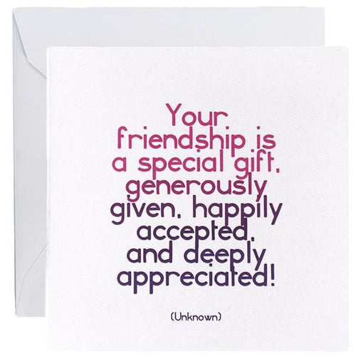 Card - Friendship Is Special
