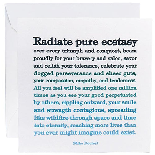 Card - Radiate Pure Ecstasy