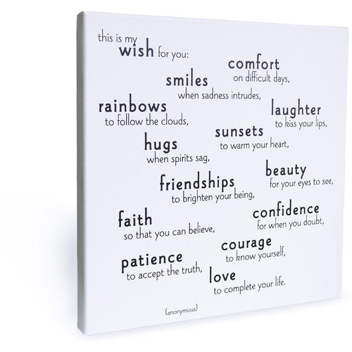 Quotable Canvas - My Wish For You
