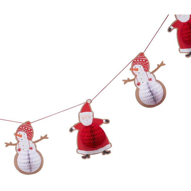 Santa & Friends - Honeycomb Garland