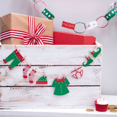 Santa & Friends - Mini Paper Bunting