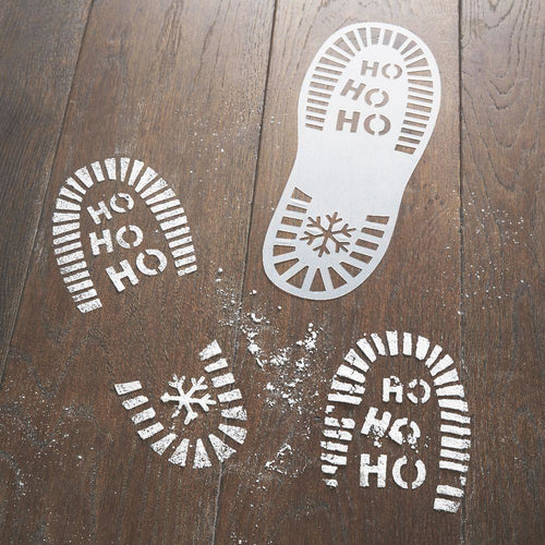Santa & Friends - Plastic Shoe Stencils