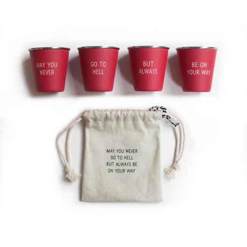 Shot Glass Set- May You Never