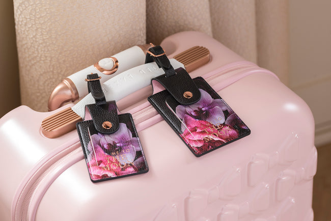 Ted Baker Luggage Tag Set, Black Splendour