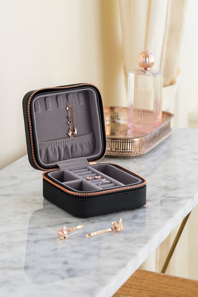 Ted Baker Travel Zipped Jewelry Case, Black