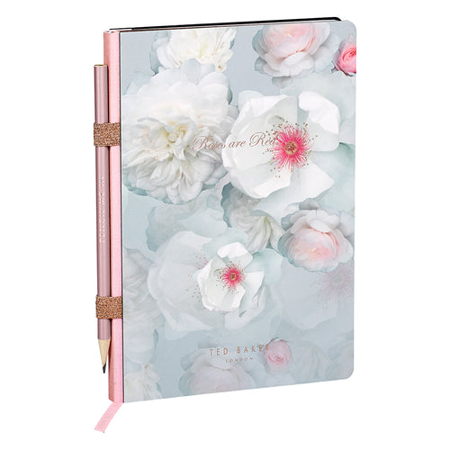 Ted Baker - Chelsea Border A5 Notebook with Pencil