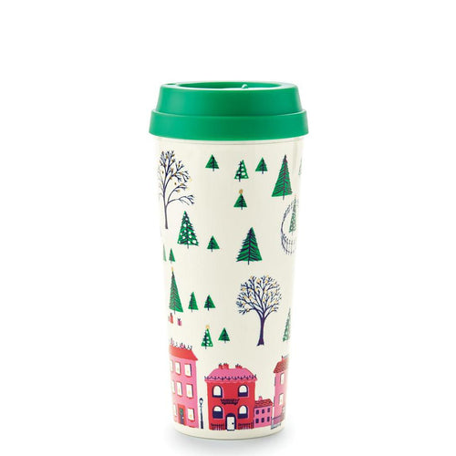 Kate Spade Thermal Mug - Holiday Village