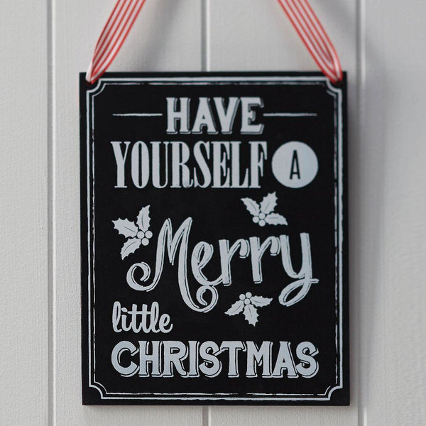 Vintage Noel - Wooden Chalkboard Very Merry Christmas Sign