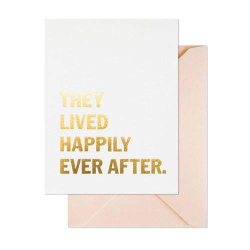Card - Lived Happily