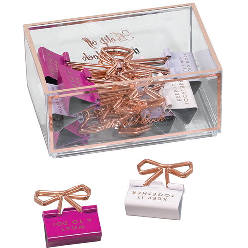 Ted Baker Bow Shaped Binder Clips